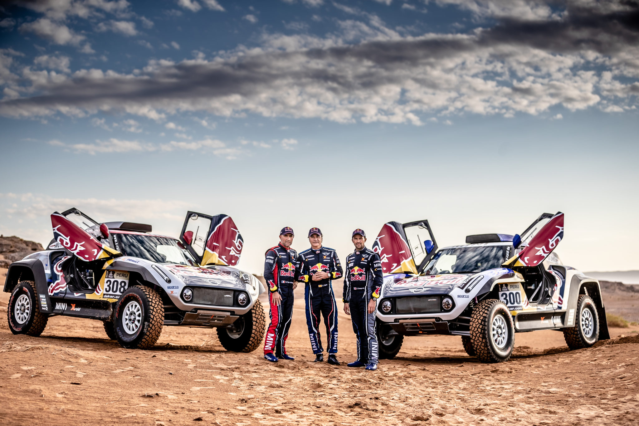 Pilotos de Mini para el Dakar