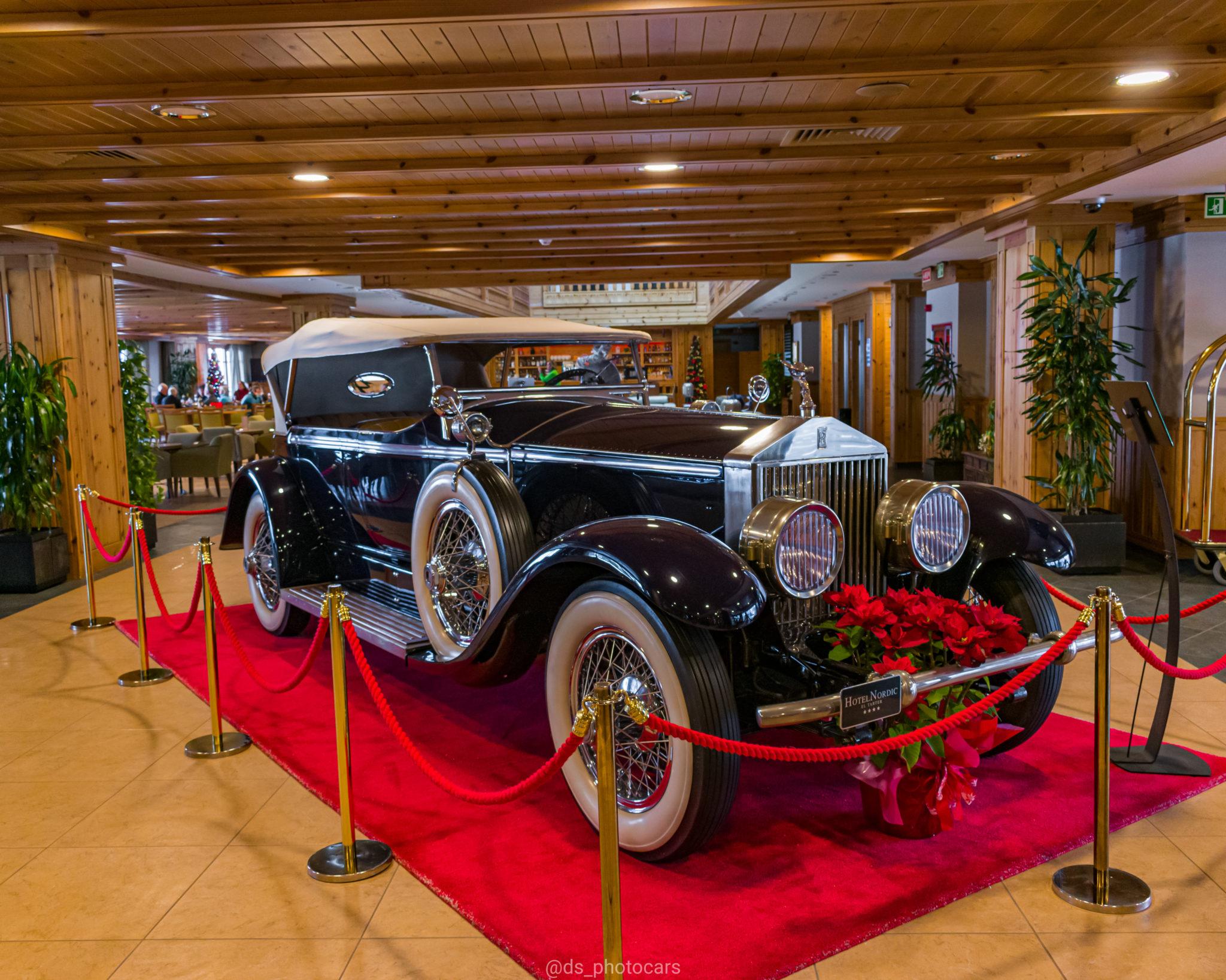 Rolls-Royce Phantom II de 1930 del Hotel Nordic fotografiado por el Car Spotter Ds_photocars en Andorra
