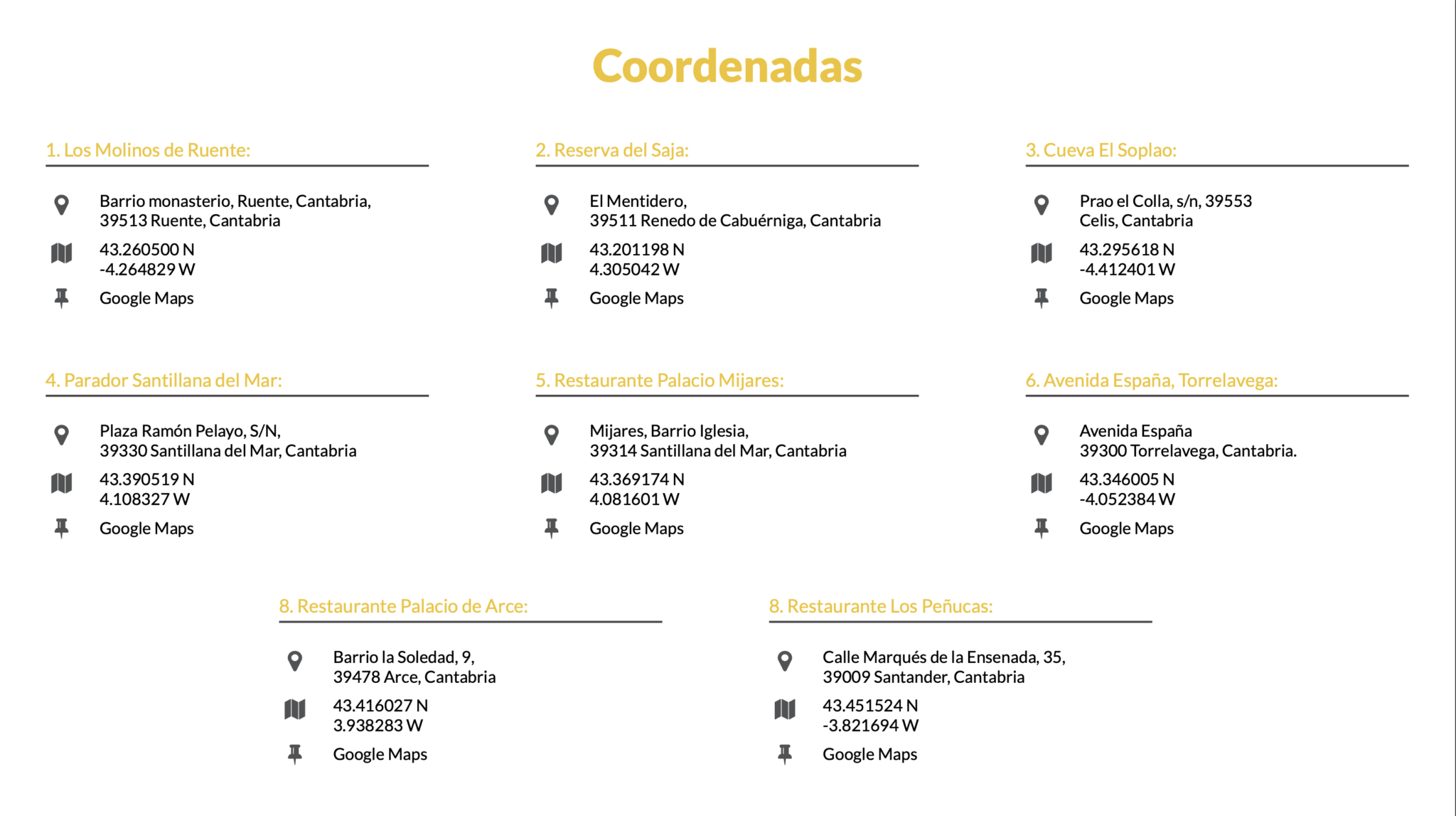 Ubicaciones 52 Supercars en Torrelavega