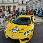 Lamborghini Aventador llegando a Londres