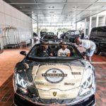 Lamborghini Huracán en el hotel
